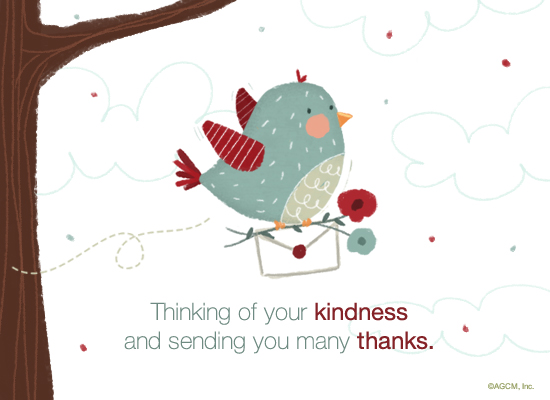 Thinking of your kindness postcard american greetings reviews m4hsunfo