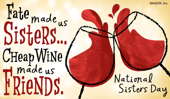 8 6 national sisters day postcard american greetings