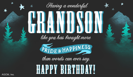 Happy Birthday Grandson Postcard