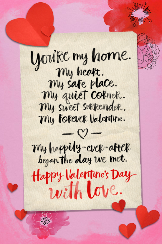 valentine/'s card for my wife with all my love forever
