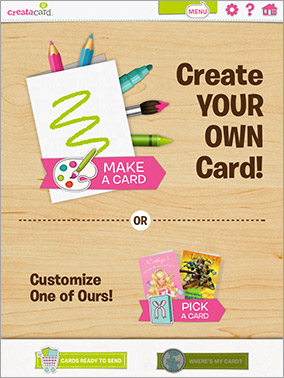 Mobile apps cardstore creatacard by american greetings is a free innovative new tablet app that allows children to draw collage and create unique cards and then send their m4hsunfo