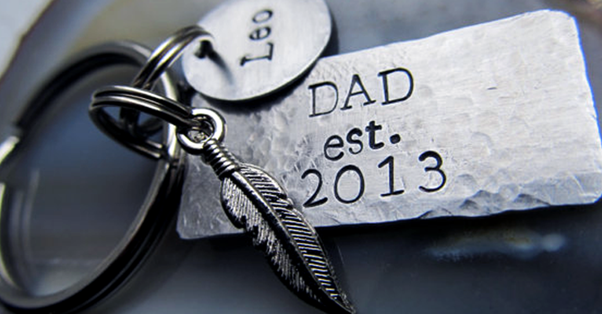 first fathers day gifts - keychain