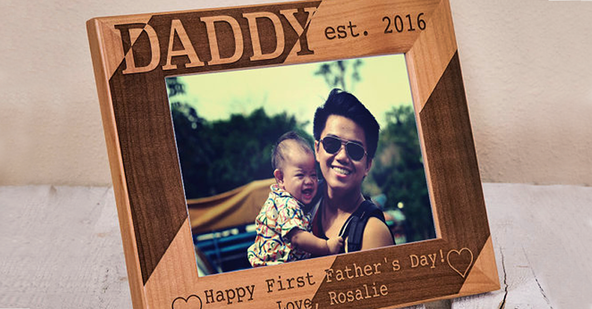 fathers day gifts - photoframe from baby
