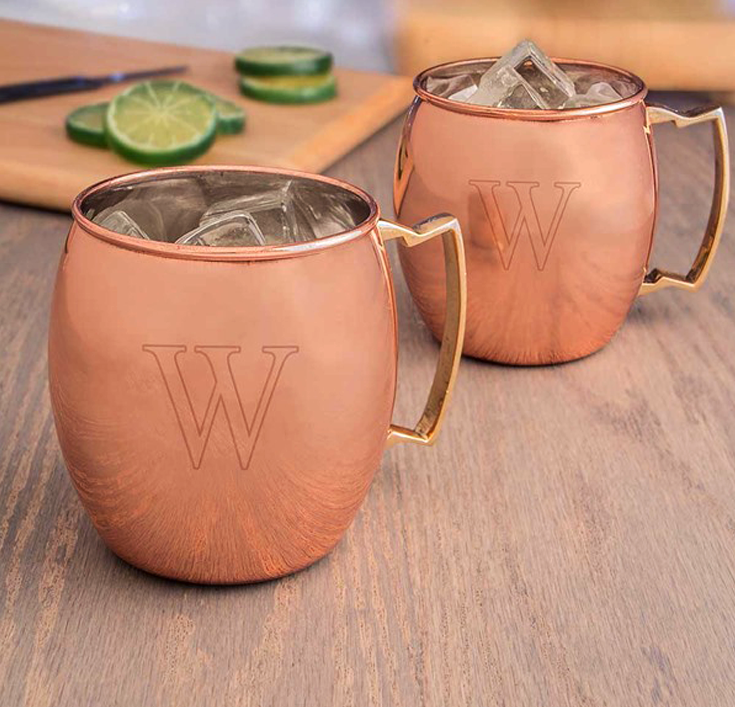 fathers day gifts - moscow mule mugs