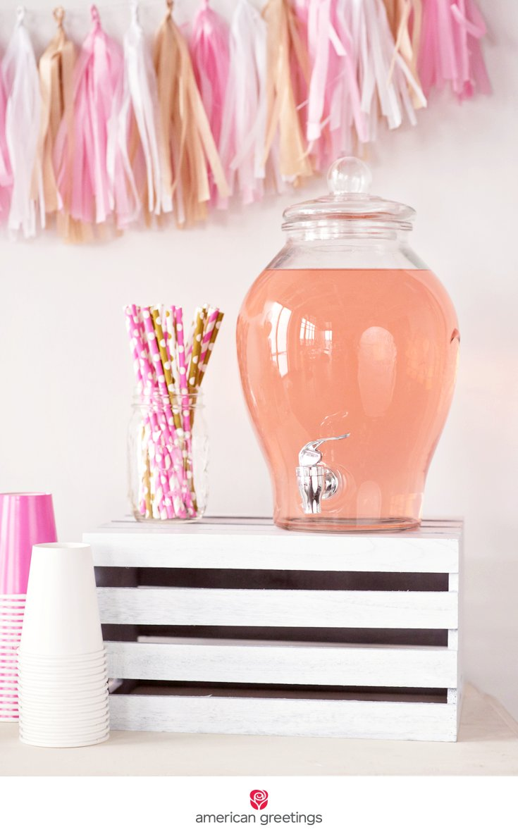 pink and gold birthday party pink lemonade