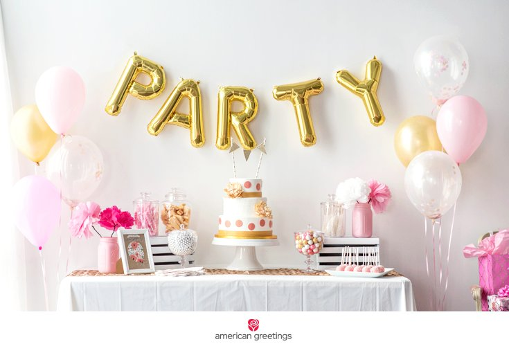 pink and gold birthday party