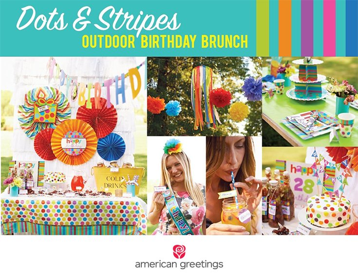 Dots and Stripes - Outdoor Birthday Brunch