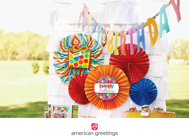DIY tissue paper dropback for party