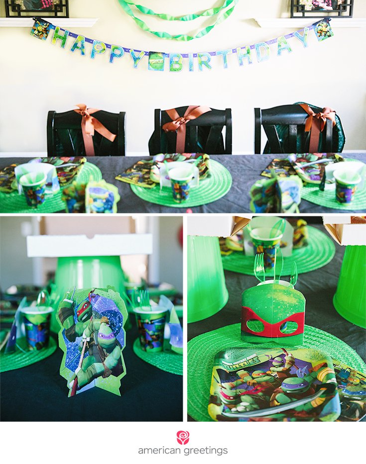 I combine my own DIYs with TMNT party supplies to throw a ninja turtle party!