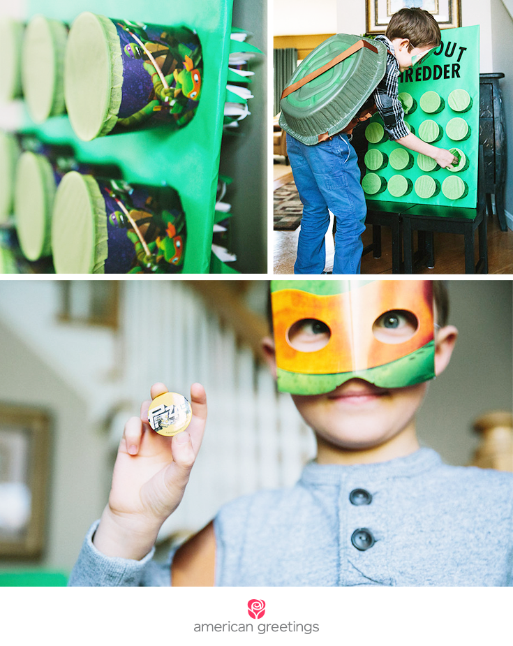 Ninja Turtle party game, favors and ideas