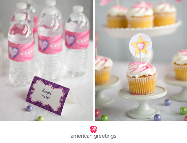 Providing printable princess party tiaras and party favor decorations