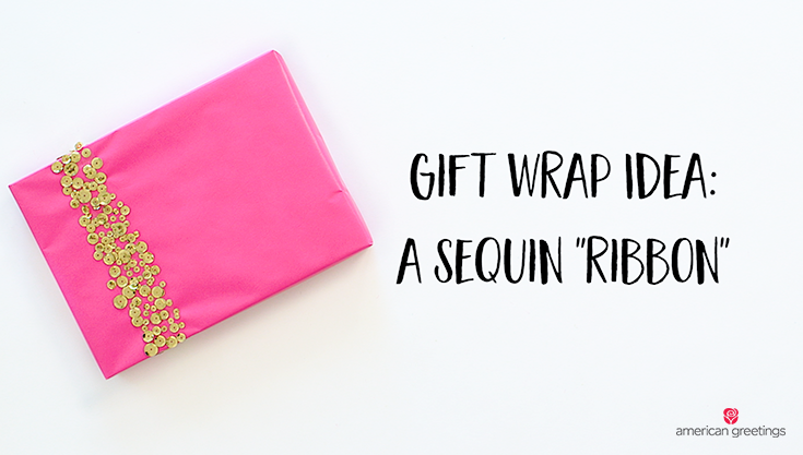 Sequin Ribbon Wrapping Paper Techniques - Gift Wrapping Inspiration