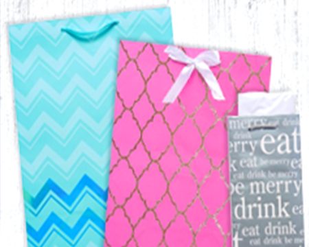 Collection of gift bags and tissue paper wrap