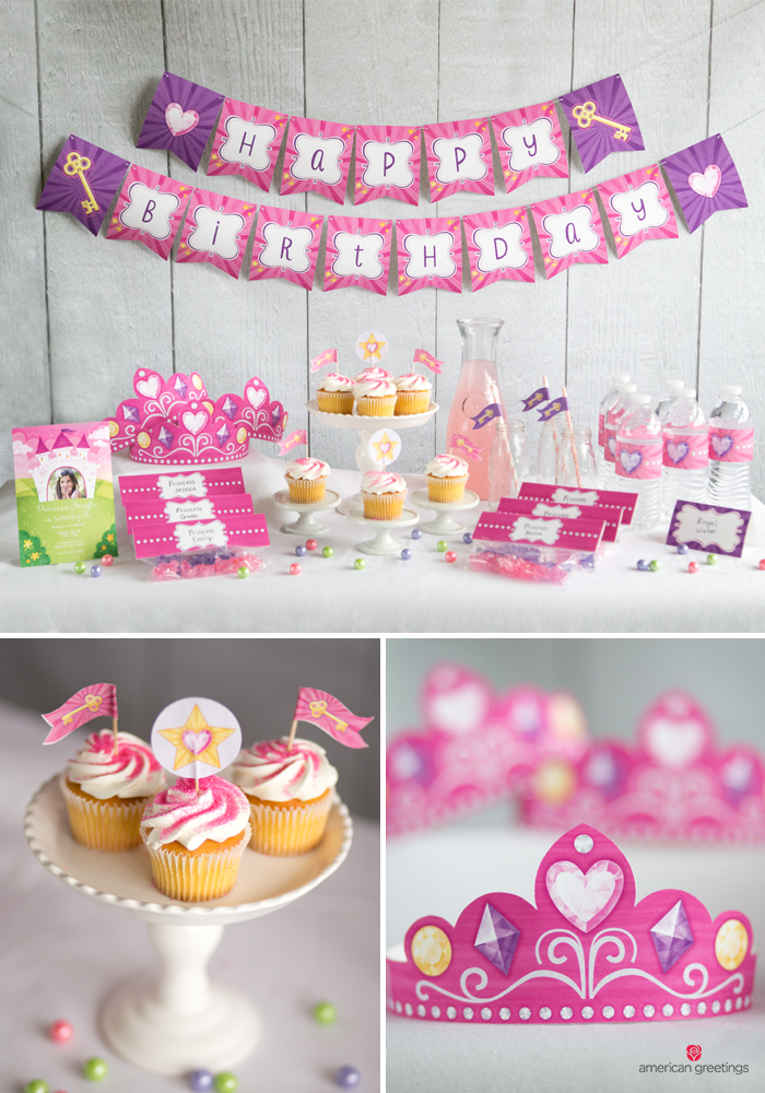 Printable princess party tiaras and decorations
