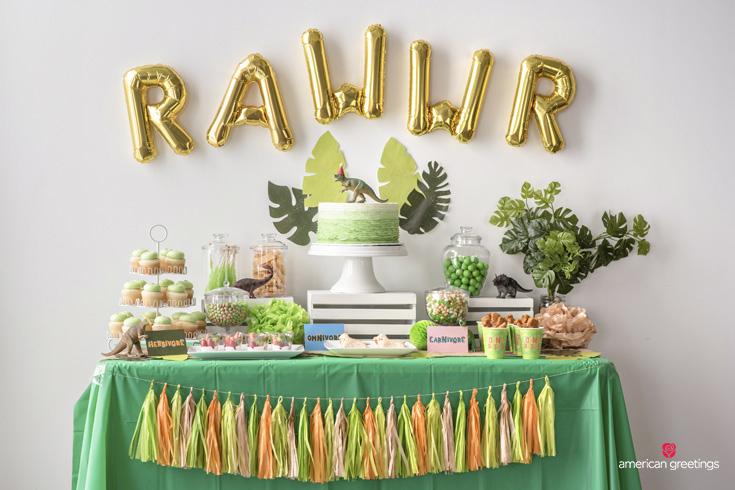 Dinosaur Party Food Table