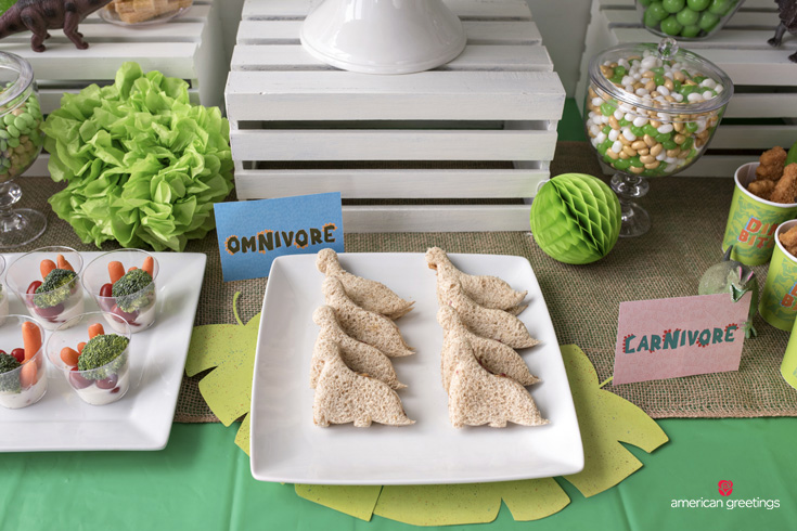 Dinosaur Sandwiches for a Birthday Party