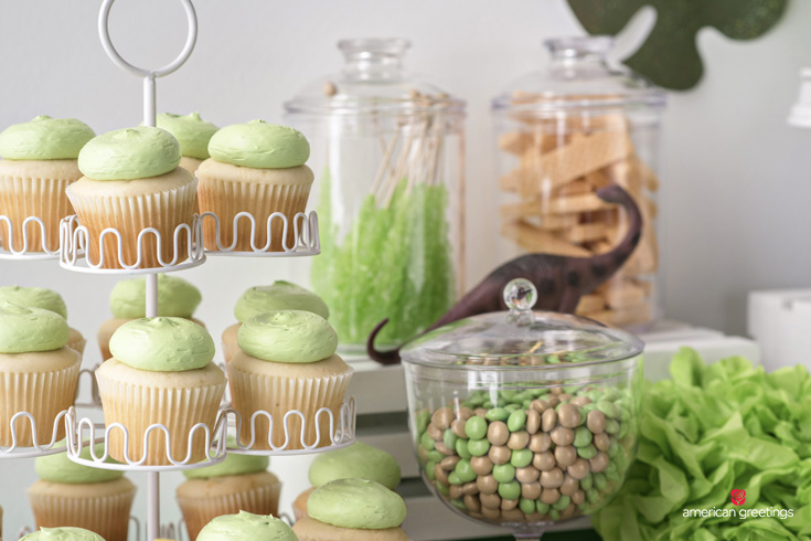 Dinosaur Party Cupcakes and Treats