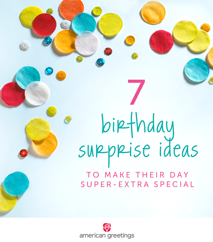 Birthday Surprise Ideas Rainbow Confetti