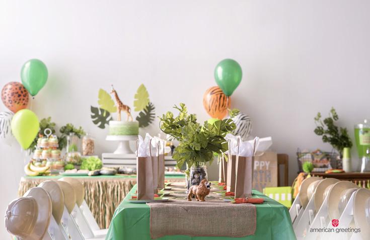 DIY jungle theme party ideas