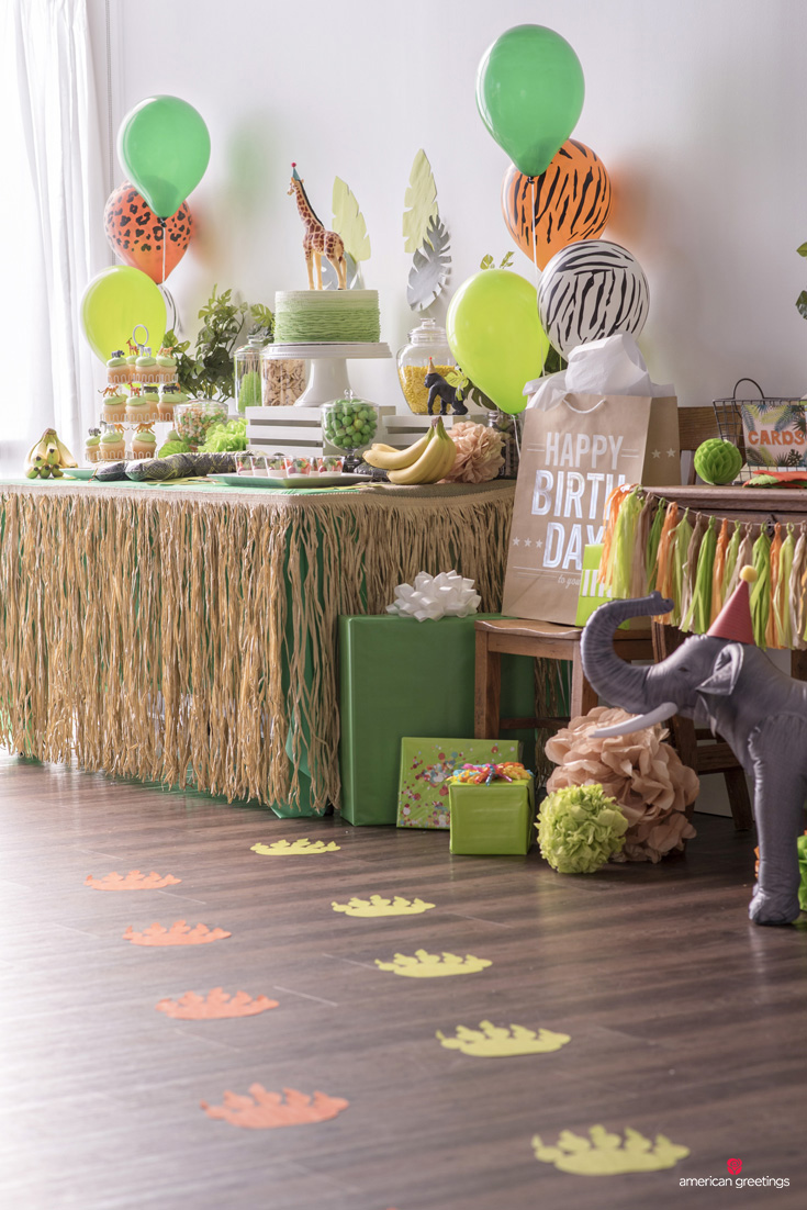 decor chair high decorations il banner party jungle listing birthday