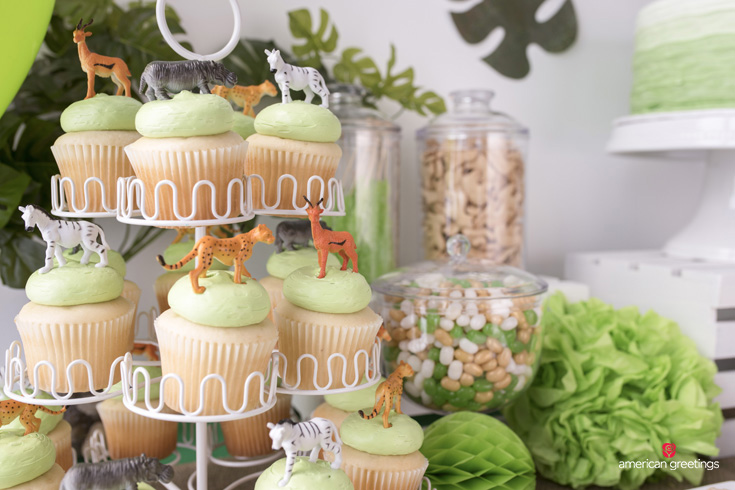 Jungle party cupcake ideas