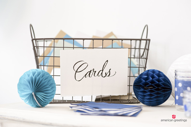 Decorated Card Basket