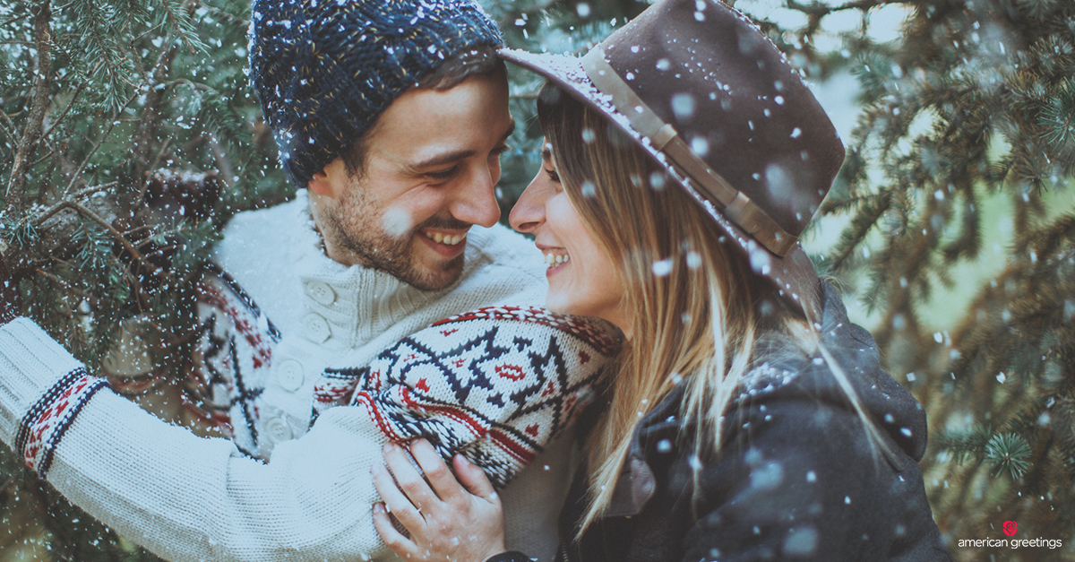 Christmas messages for boyfriend american greetings boyfriend and girlfriend laughing while christmas tree shopping m4hsunfo