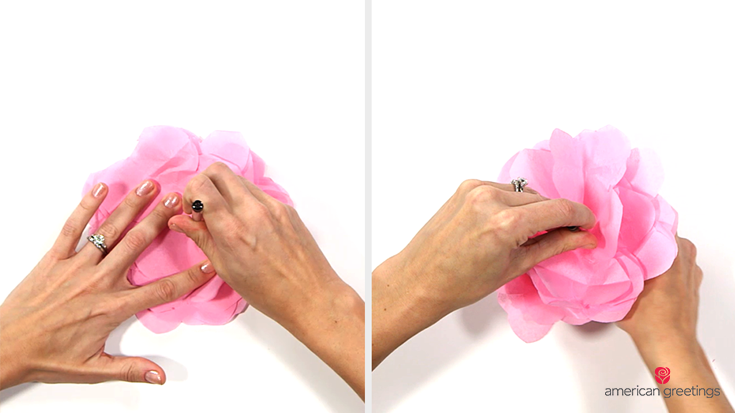 Step 4 - Use the tip of your pen and press down on your stack of petals