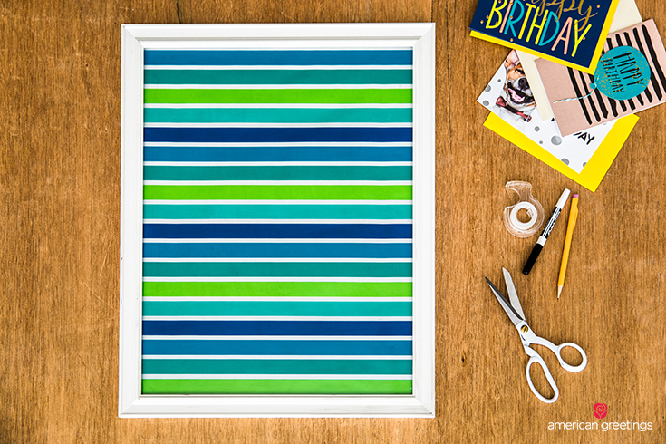 Easy DIY Craft Birthday Wall Calendar - Step 2