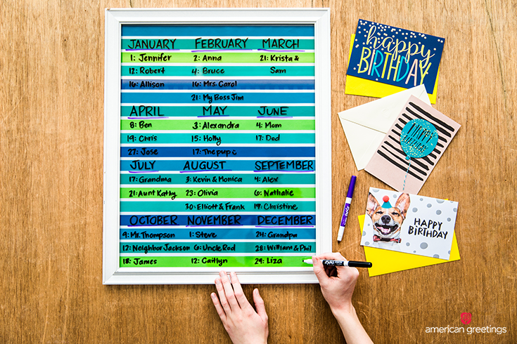 Stay connected - DIY Wall Calendar - Step 3