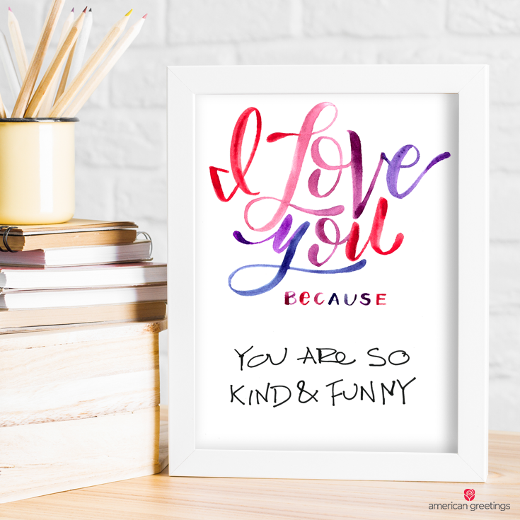 Valentine's Day I love you printable