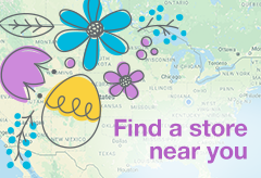 where you can find us - map with flowers