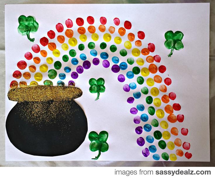 Fingerprint Craft St. Patrick's Day