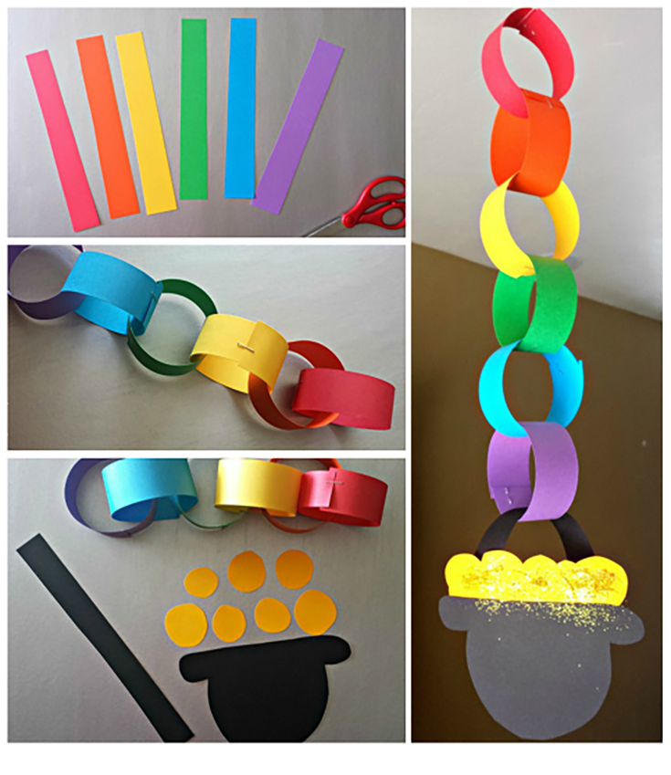 DIY Rainbow Chain - St. Patricks Day - Spring