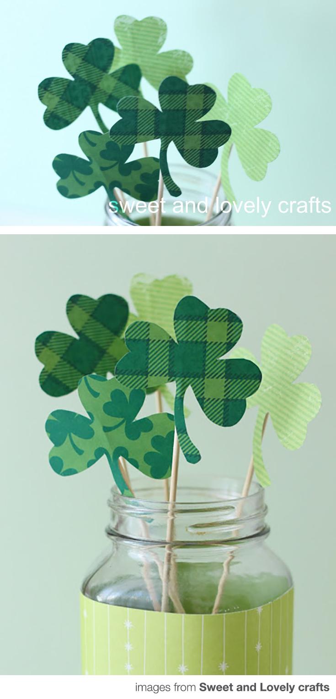 DIY Shamrock Bouquet Craft