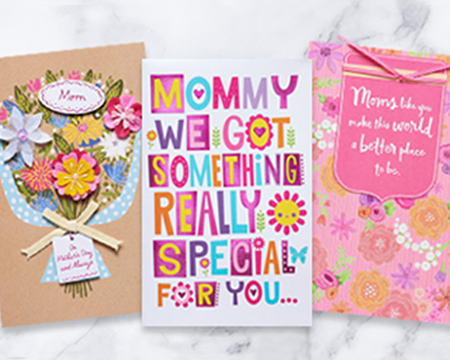 mothers day greeting cards with pink flowers covers