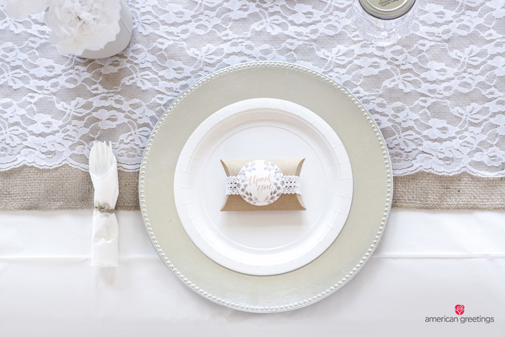 White table setting close up