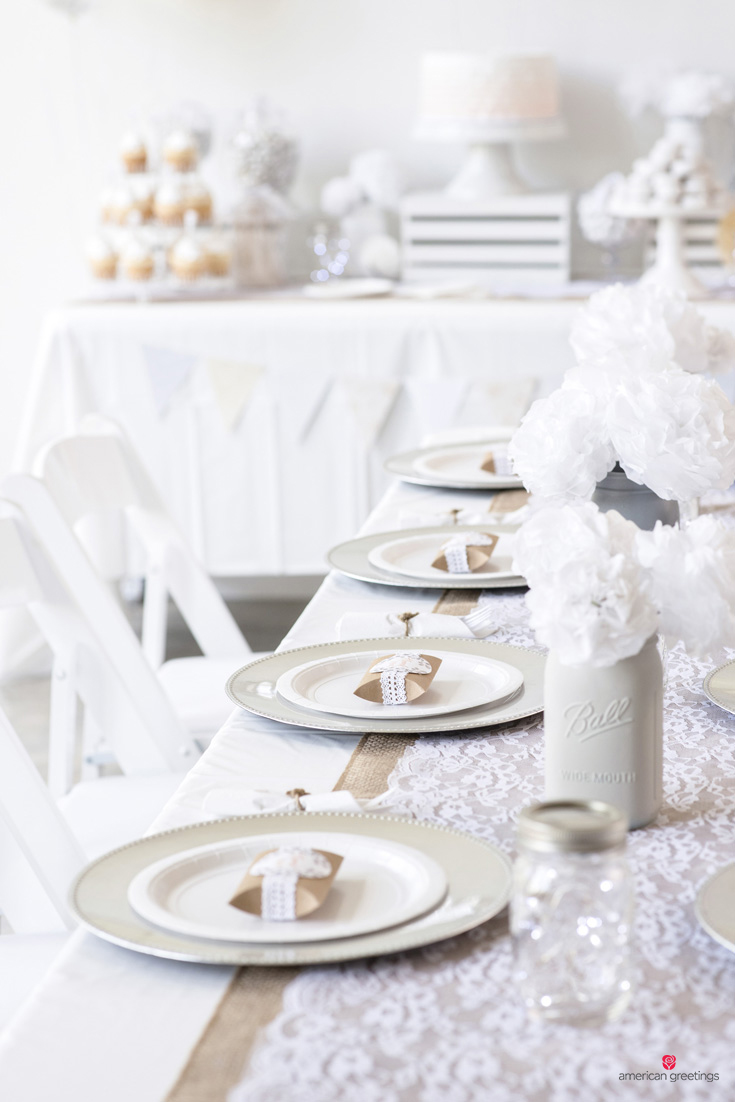 White Themed Bridal Shower Party Ideas - American Greetings