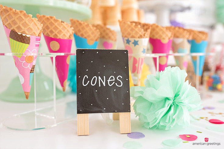 cones in wrapping paper