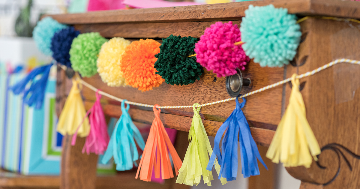 Party decorations - pom poms