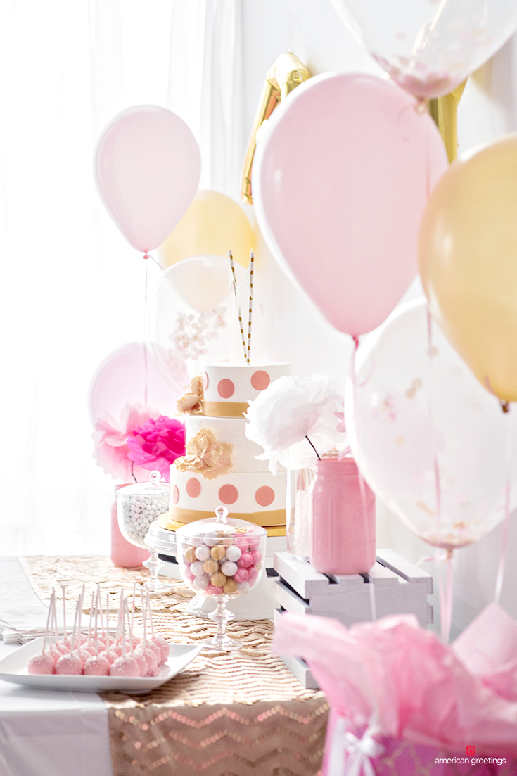 balloons and sweets