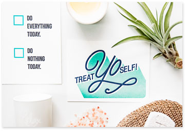 American Greetings Instagram - Treat Yo Self picture message