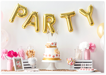 Party balloons decorations.