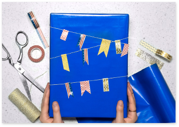 Nautical gift wrapping