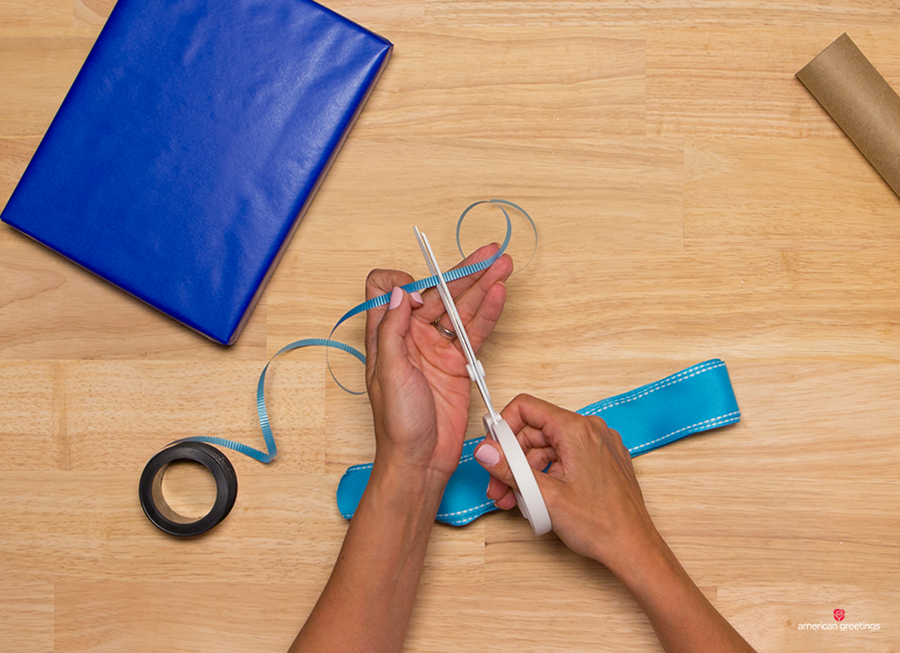 Step 8 - Cut a piece of your curling ribbon