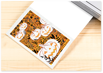 Pumpkin printable card