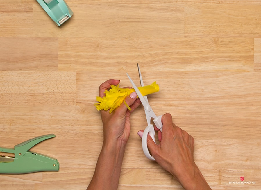 "Step 6 - trim the remainder of the base so you end up with only the ""flower"
