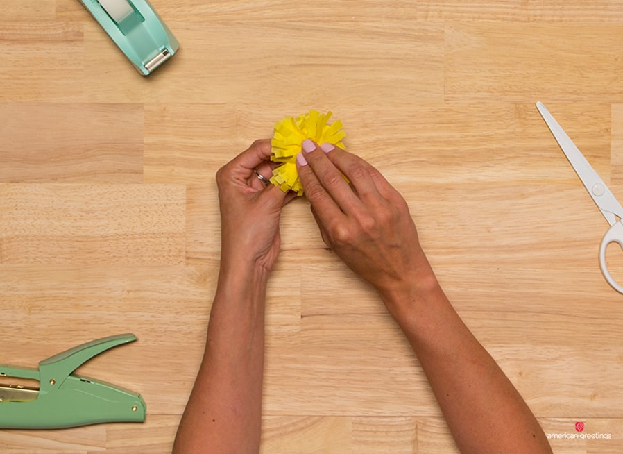 Step 7 - create a smaller dandelion, repeating the steps