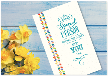 White printable greeting card with