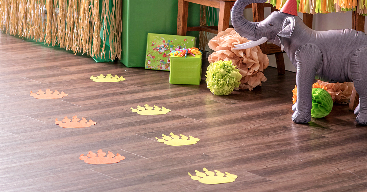Jungle Party printable footprints